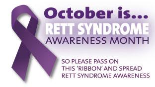 october is rett tober for rett syndrome awareness month